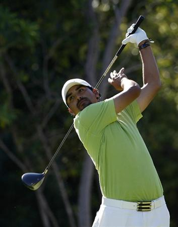 PLAYA DEL CARMEN, MEXICO - FEBRUARY 24:  Oscar Serna of Mexico hits a drive during the first round of the Mayakoba Golf Classic at Riviera Maya-Cancun held at El Camaleon Golf Club on February 24, 2011 in Playa del Carmen, Mexico.  (Photo by Michael Cohen/Getty Images)