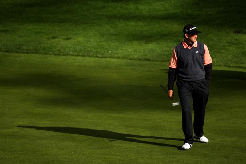 PEBBLE BEACH, CA - FEBRUARY 14:  Retief Gossen of South Africa walks on the green on the 12th hole  during the third round of the the AT&T Pebble Beach National Pro-Am at Spyglass Hill Golf Course on February 14, 2009 in Pebble Beach, California.  (Photo by Stephen Dunn/Getty Images)