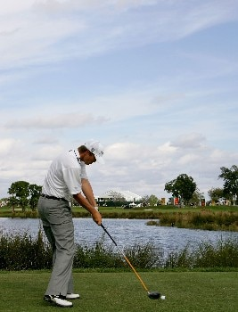 PALM BEACH GARDENS, FL - MARCH 1:  Matt Jones of Australia plays a shot on the 9th hole during the third round of the Honda Classic at PGA National Resort and Spa March 1, 2008 in Palm Beach Gardens, Florida.  (Photo by Sam Greenwood/Getty Images)
