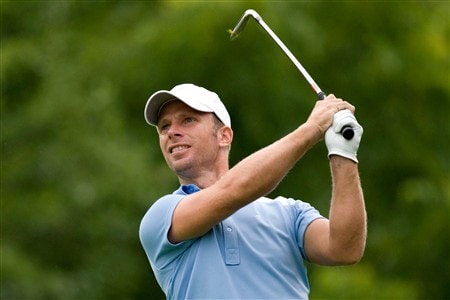 OAKVILLE, ON - JULY 24:  Richard S. Johnson makes a tee shot during the first round of the Canadian Open at the Glen Abbey Golf Club on July 24, 2008 in Oakville, Ontario.  (Photo by Robert Laberge/Getty Images)