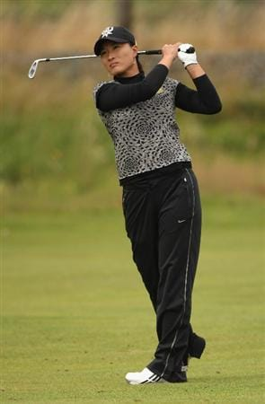 LYTHAM ST ANNES, ENGLAND - AUGUST 01:  Se Ri Pak of Korea hits her second shot to the 2nd hole during the third round of the 2009 Ricoh Women's British Open Championship held at Royal Lytham St Annes Golf Club, on August 1, 2009 in Lytham St Annes, England.  (Photo by Warren Little/Getty Images)