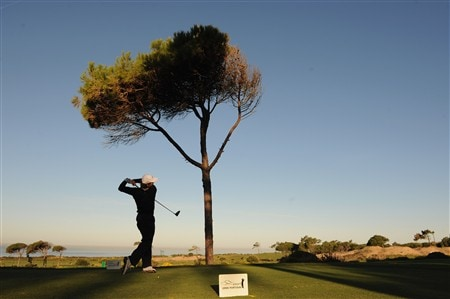 CASCAIS, PORTUGAL - APRIL 04:  Pablo Martin of Spain plays his tee shot on the eighth hole during second round of The Estoril Open de Portugal The Oitavos Dunes Golf Course on April 4, 2008 in Cascais, Portugal.  (Photo by Stuart Franklin/Getty Images)