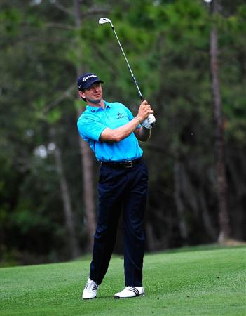 PALM HARBOR, FL - MARCH 21:  Retief Goosen of South Africa hits a shot on the 7th hole during the third round of the Transitions Championship at the Innisbrook Resort and Golf Club on March 21, 2009 in Palm Harbor, Florida.  (Photo by Sam Greenwood/Getty Images)