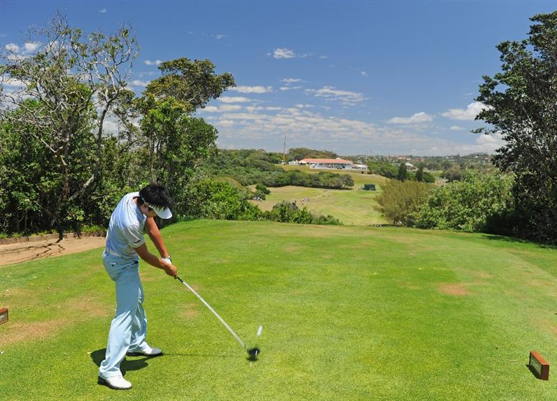 EAST LONDON, SOUTH AFRICA - JANUARY 07:  Danny Lee of New Zealand plays his tee shot on the seventh hole during the first round of the Africa Open at the East London Golf Club on January 7, 2010 in East London, South Africa.  (Photo by Stuart Franklin/Getty Images)