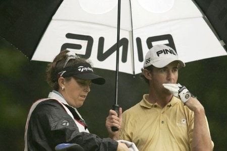 Mark Hensby during the first round of the 2005 HSBC World Matchplay Championship at Wentworth Golf Club's West Course in Virginia Water, Great Britain on September 15, 2005.Photo by Pete Fontaine/WireImage.com