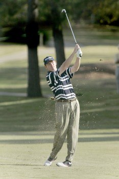 Shaun Micheel in action during the first round of the Southern Farm Bureau Classic at Annandale Golf Club in Madison, Mississippi on November 3, 2005.Photo by Michael Cohen/WireImage.com
