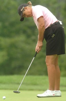 Dawn Coe-Jones in action during the second round of the LPGA's Wendy's Championship For Children at Tartan Fields Golf Club in Dublin, Ohio August 26, 2005.EPhoto by Steve Grayson/WireImage.com
