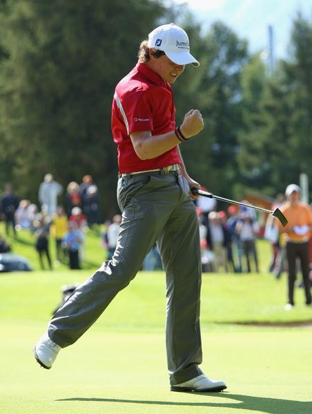 Rory McIlroy at the 2008 Omega European Masters