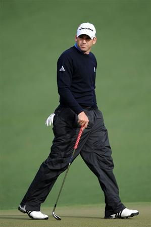 AUGUSTA, GA - APRIL 05:  Sergio Garcia of Spain looks over a green during a practice round prior to the 2011 Masters Tournament at Augusta National Golf Club on April 5, 2011 in Augusta, Georgia.  (Photo by Harry How/Getty Images)