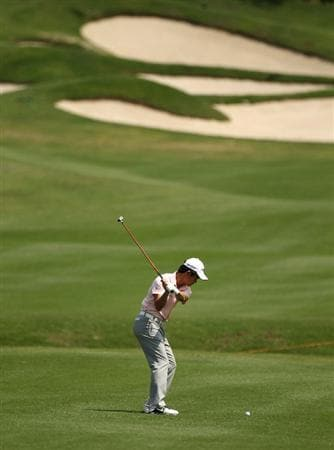 CHENGDU, CHINA - APRIL 23:  Liang Wen-chong of China in action during day three of the Volvo China Open at Luxehills Country Club on April 23, 2011 in Chengdu, China.  (Photo by Ian Walton/Getty Images)