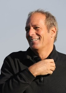 Michael Bolton smiles on the driving range during the first round of the 49th Bob Hope Chrysler Classic at the Silverrock Resort on January 16, 2008 in La Quinta, California. PGA TOUR - 2008 Bob Hope Chrysler Classic - Round OnePhoto by Harry How/WireImage.com