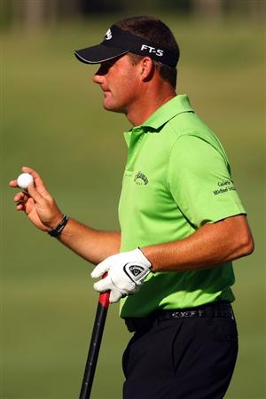 PONTE VEDRA BEACH, FL - MAY 08:  Alex Cejka of Germany waves his ball after making birdie on the seventh hole during the second round of THE PLAYERS Championship on THE PLAYERS Stadium Course at TPC Sawgrass on May 8, 2009 in Ponte Vedra Beach, Florida.  (Photo by Scott Halleran/Getty Images)