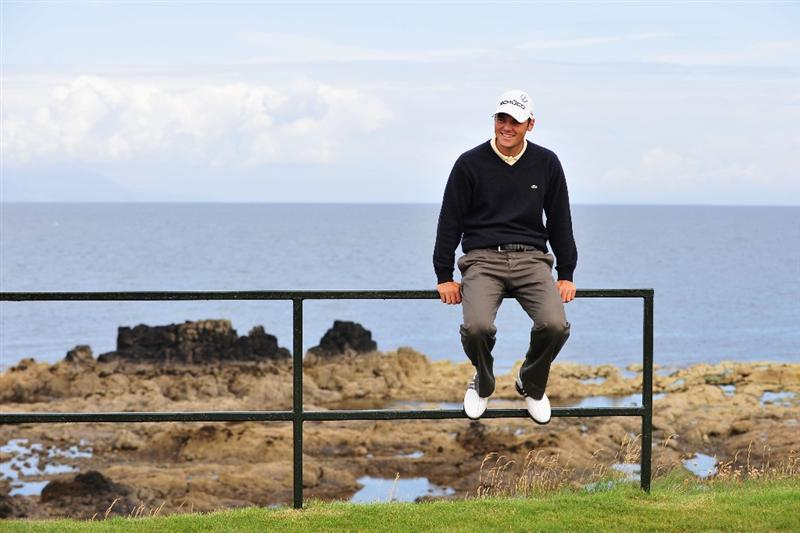 TURNBERRY, SCOTLAND - JULY 14:   Martin Kaymer of Germany waits to tee off during a practice round prior to the 138th Open Championship on the Ailsa Course, Turnberry Golf Club on July 14, 2009 in Turnberry, Scotland. (Photo by Stuart Franklin/Getty Images)