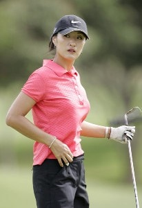 Grace Park on the driving range during the practice round of the Fields Open in Hawaii February 21, 2006 at the Ko Olina Resort Golf Club in Kapolei, on the island of Oahu, Hawaii.Photo by Marco Garcia/WireImage.com