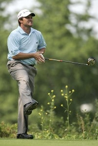 Robert Damron during the first round of the Cialis Western Open on the No. 4 Dubsdread course at Cog Hill Golf and Country Club in Lemont, Illinois on July 6, 2006.