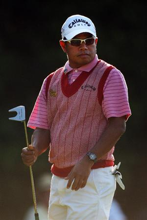 AUGUSTA, GA - APRIL 09:  Prayad Marksaeng of Thailand waves to the gallery after a birdie on the second green during the first round of the 2009 Masters Tournament at Augusta National Golf Club on April 9, 2009 in Augusta, Georgia.  (Photo by Andrew Redington/Getty Images)