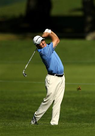 SAN FRANCISCO - NOVEMBER 04:  Fred Funk hits an approach shot during round 1 of the Charles Schwab Cup Championship at Harding Park Golf Course on November 4, 2010 in San Francisco, California.  (Photo by Ezra Shaw/Getty Images)