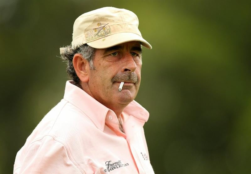 PERTH, AUSTRALIA - NOVEMBER 20:  Sam Torrance of Scotland looks on during day two of the 2010 Australian Senior Open at Royal Perth Golf Club on November 20, 2010 in Perth, Australia.  (Photo by Paul Kane/Getty Images)