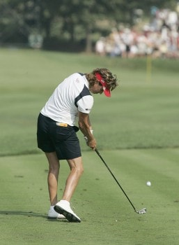 Rosie Jones during the Sunday singles matches at the Solheim Cup at Crooked Stick Golf Club in Carmel, Indiana on September 11, 2005.Photo by Michael Cohen/WireImage.com