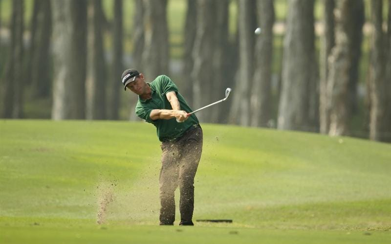 HONG KONG - NOVEMBER 19:  Anders Hansen of Denmark in action during day two of the UBS Hong Kong Open at The Hong Kong Golf Club on November 19, 2010 in Hong Kong, Hong Kong.  (Photo by Ian Walton/Getty Images)