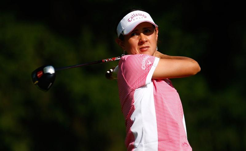 BETHLEHEM, PA - JULY 09:  Carolina Llano of Colombia hits her tee shot on the first hole during the first round of the 2009 U.S. Women's Open at the Saucon Valley Country Club on July 9, 2009 in Bethlehem, Pennsylvania.  (Photo by Scott Halleran/Getty Images)