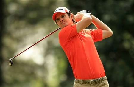 CHARLOTTE, NC - MAY 02:  Justin Rose of England tee's off at the 6th during the second round of the Wachovia Championship at Quail Hollow Country Club on May 2, 2008 Charlotte, North Carolina.  (Photo by Richard Heathcote/Getty Images)