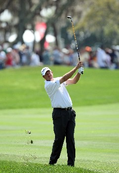 ORLANDO, FL - MARCH 16:  Bart Bryant of the USA hits his second shot at the 1st hole during the final round of the 2008 Arnold Palmer Invitational presented by MasterCard at the Bay Hill Golf Club and Lodge, on March 16, 2008 in Orlando, Florida.  (Photo by David Cannon/Getty Images)