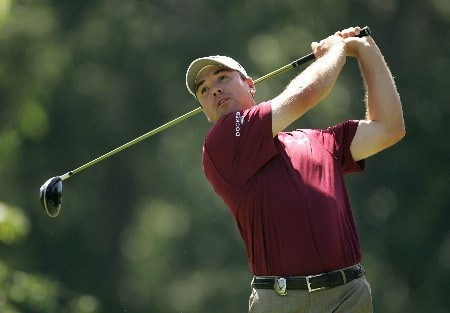 TULSA, OK - AUGUST 09:  Arron Oberholser hits a tee shot on the 13th hole during the first round of the 89th PGA Championship at the Southern Hills Country Club on August 9, 2007 in Tulsa, Oklahoma.  (Photo by Streeter Lecka/Getty Images)