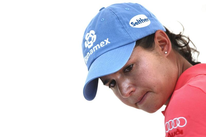 MORELIA, MEXICO- APRIL 25: Lorena Ochoa of Mexico looks on from the scorers tent during the thrid round of the Corona Championship at the Tres Marias Residential Golf Club on April 25, 2009 in Morelia, Michoacan, Mexico. (Photo by Donald Miralle/Getty Images)