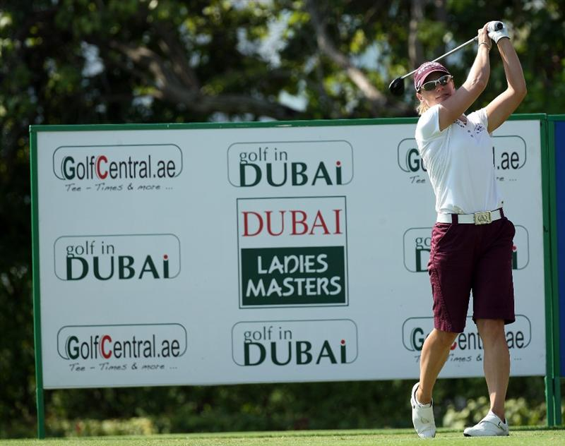 DUBAI, UNITED ARAB EMIRATES - DECEMBER 12:  Annika Sorenstam of Sweden drives at the 2nd hole during the second round of the Dubai Ladies Masters on the Majilis Course at the Emirates Golf Club on December 12, 2008 in Dubai,United Arab Emirates  (Photo by David Cannon/Getty Images)