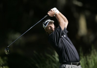 Chris DiMarco hits from the second tee during the second round of the 2007 Verizon Heritage Classic at Harbour Town Golf Links in Hilton Head Island on April 13, 2007 in Hilton Head, South Carolina. PGA TOUR - 2007 Verizon Heritage - Second RoundPhoto by Steve Grayson/WireImage.com