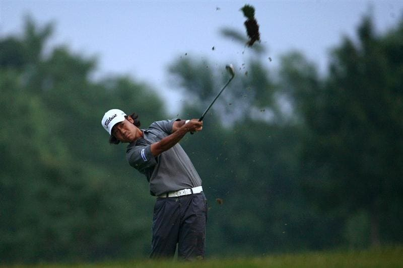 OAKVILLE, ONTARIO - JULY 23: Kevin Na plays his second shot on the nineth hole during round one of the RBC Canadian Open at Glen Abbey Golf Club on July 23, 2009 in Oakville, Ontario, Canada.  (Photo by Chris McGrath/Getty Images)