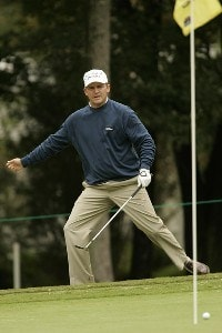 Jason Bohn  misses a birdie chip on the 16th hole during the fourth and final round of the Chrysler Classic of Greensboro at Forest Oaks Country Club in Greensboro, North Carolina on October 8, 2006. PGA TOUR - 2006 Chrysler Classic of Greensboro - Final RoundPhoto by Michael Cohen/WireImage.com