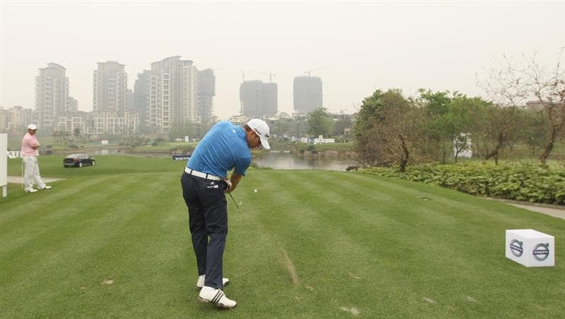 CHENGDU, CHINA - APRIL 20:  Sergio Garcia of Spain plays a shot ahead of the Volvo China Open at Luxehills Country Club on April 20, 2011 in Chengdu, China.  (Photo by Ian Walton/Getty Images)