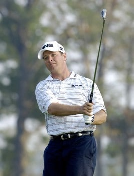Ted Purdy in action during the first round of the 2005 84 Lumber Classic on Thursday, September 15, 2005 held at the Mystic Rock Golf Course/Nemacolin Woodlands Resort  in Farmington, Pennsylvania.Photo by Marc Feldman/WireImage.com