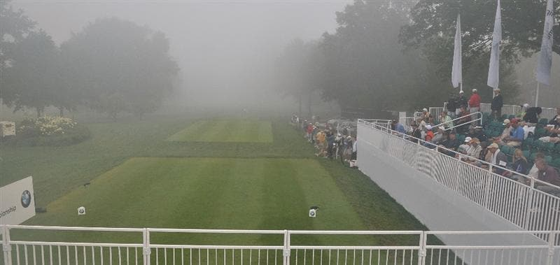 ST. LOUIS - SEPTEMBER 6:  Fog delay during the second round of the BMW Championship held at Bellerive Country Club on September 5, 2008 in St. Louis, Missouri. (Photo by Marc Feldman-Getty Images)