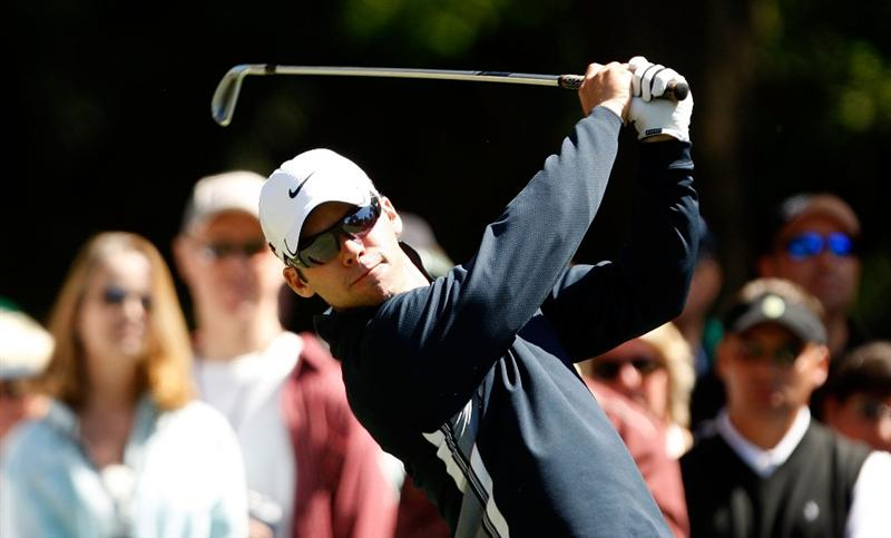 HILTON HEAD ISLAND, SC - APRIL 17:  Paul Casey of England watches his tee shot on the 9th hole during the second round of the Verizon Heritage at Harbour Town Golf Links on April 17, 2009 in Hilton Head Island, South Carolina.  (Photo by Streeter Lecka/Getty Images)