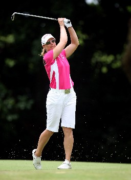 SINGAPORE - MARCH 02:  Annika Sorenstam of Sweden during the final round of the HSBC Women's Champions at the Tanah Merah Country Club on March 2, 2008 in Singapore.  (Photo by Ross Kinnaird/Getty Images)