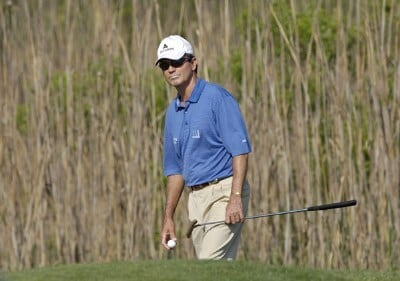 Mark McNulty during the first round of the Liberty Mutual Legends of Golf at Westin Savannah Harbor Golf Resort & Spa in Savannah, Georgia, on April 21, 2006.Photo by Steve Levin/WireImage.com