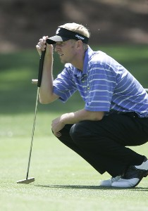 Vaughn Taylor on the 6th hole during the first round of the Verizon Heritage Classic being played at the Harbour Town Golf Links in Hilton Head, South Carolina on April 13, 2006.Photo by Mike Ehrmann/WireImage.com