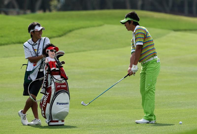 ORLANDO, FL - MARCH 27:  Ryo Ishikawa of Japan plays his second shot at the 12th hole during the second round of the Arnold Palmer Invitational Presented by Mastercard at the Bay Hill Club and Lodge on March 27, 2009 in Orlando, Florida  (Photo by David Cannon/Getty Images)
