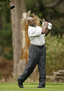 NFL Hall of Fame running back Emmitt Smith during the first round of the AT&T Pebble Beach National Pro-Am on the Poppy Hills Golf Course in Pebble Beach, California, on February 8, 2007. PGA TOUR - 2007 AT&T Pebble Beach National Pro-Am - Celebrity Photo by Hunter Martin/WireImage.com