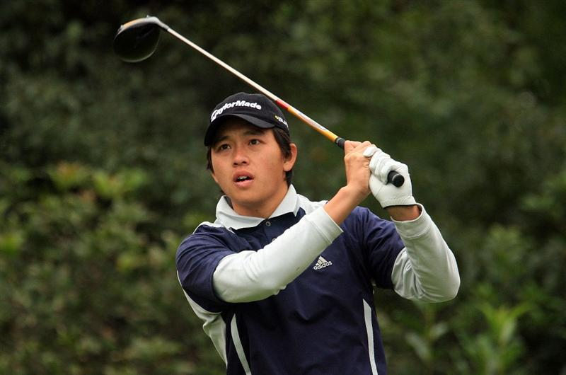 SHANGHAI, CHINA - NOVEMBER 08:  Ben Leong of Malaysia watches his tee shot on the fifth hole during the second round of the HSBC Champions at Sheshan International Golf Club on November 8, 2008 in Shanghai, China.  (Photo by Scott Halleran/Getty Images)
