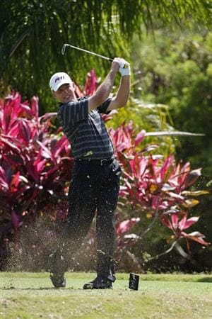 RIO GRANDE, PR - MARCH 13:  Michael Bradley hits his tee shot on the 11th hole during the final round of the Puerto Rico Open presented by seepuertorico.com at Trump International Golf Club on March 13, 2011 in Rio Grande, Puerto Rico.  (Photo by Michael Cohen/Getty Images)