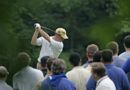 Jonathan Kaye tees off on #9 in the third round of the Memorial Tournament at Muirfield Village Golf Club - Dublin, Ohio. Saturday, June 4, 2005Photo by Chris Condon/PGA TOUR/WireImage.com