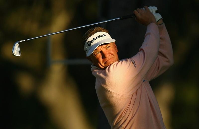 MADRID, SPAIN - OCTOBER 09:  Paul Broadhurst of England in action during the Madrid Masters at the Club de Campo Villa de Madrid on October 9, 2008 in Madrid, Spain.  (Photo by Ian Walton/Getty Images)
