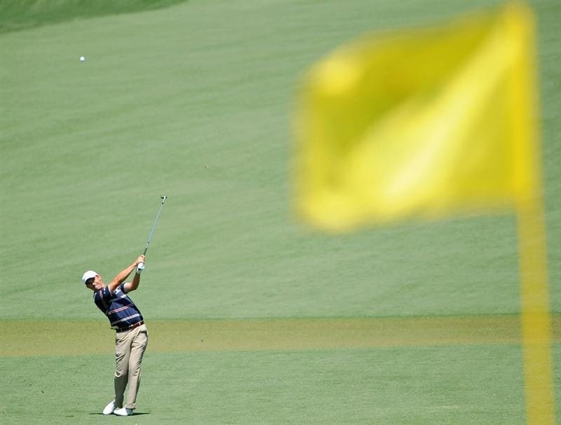 AUGUSTA, GA - APRIL 12:  Padraig Harrington of Ireland hits a shot to the second green during the final round of the 2009 Masters Tournament at Augusta National Golf Club on April 12, 2009 in Augusta, Georgia.  (Photo by Harry How/Getty Images)