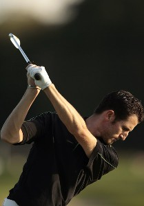 France's Gregory Bourdy warms up on the range during a practice day at the 2006 American Express Championship held at the Grove Golf Club. September 26, 2006. WGC - 2006 American Express Championship- Practice - September 26, 2006Photo by Pete Fontaine/WireImage.com