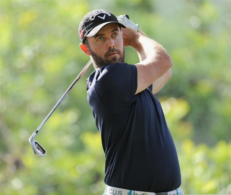 CASTELLON DE LA PLANA, SPAIN - OCTOBER 23:  Christian Nilsson of Sweden plays his tee shot on the first hole during the third round of the Castello Masters Costa Azahar at the Club de Campo del Mediterraneo on October 23, 2010 in Castellon de la Plana, Spain.  (Photo by Stuart Franklin/Getty Images)