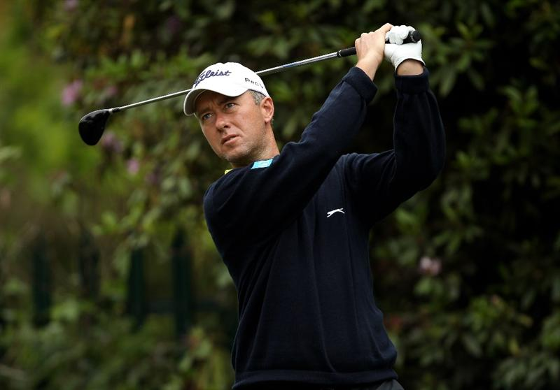 VIRGINIA WATER, ENGLAND - MAY 27:  Mark Foster of England tees off during the second round of the BMW PGA Championship at the Wentworth Club on May 27, 2011 in Virginia Water, England.  (Photo by Ian Walton/Getty Images)
